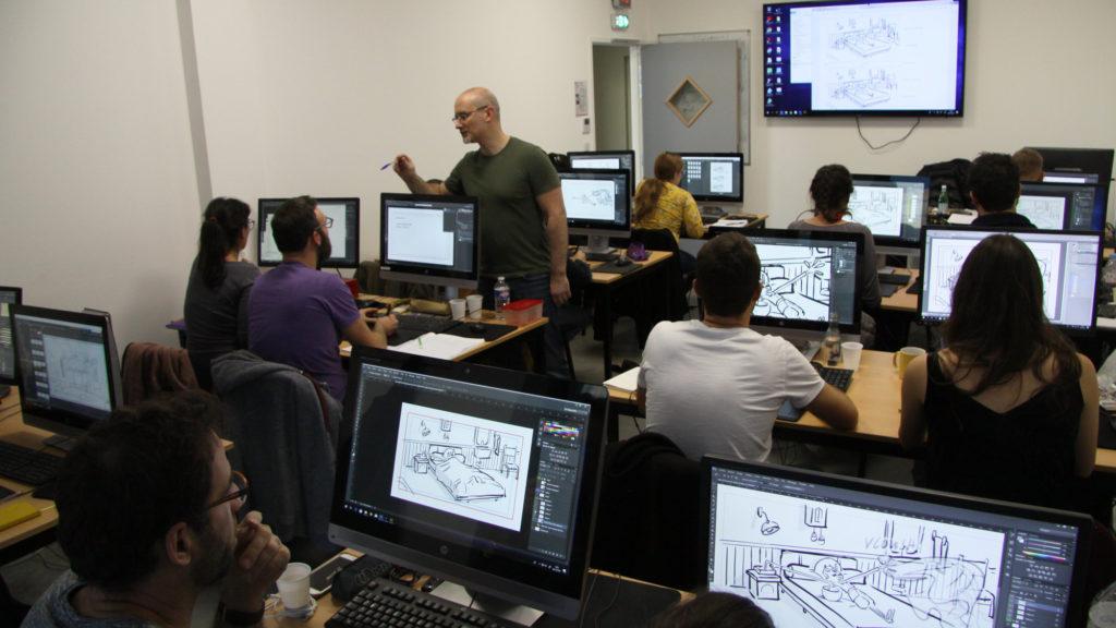 Formation continue // L'école accompagne quinze demandeurs d'emploi dans une formation au layout
