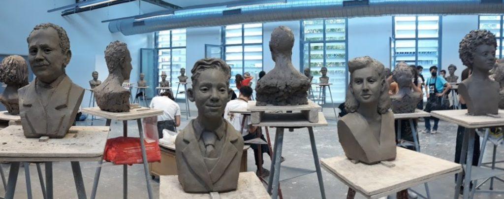 Les préparatifs de l'exposition au Mémorial national de la prison de Montluc